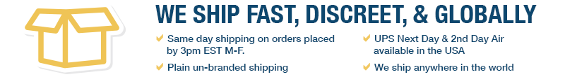 We Ship Fast.